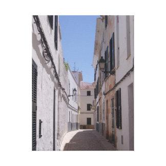 Menorca Street Canvas Print