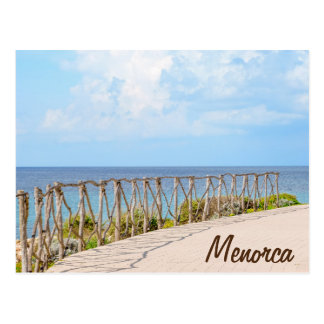 Menorca Traditional Wooden Fence Postcard