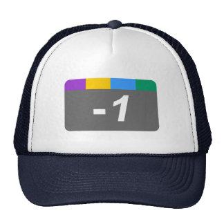 Menos 1 gorras