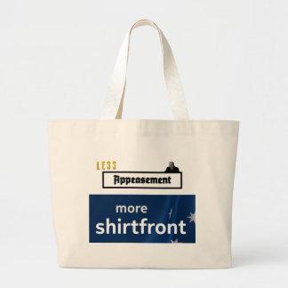 Menos apaciguamiento, más shirtfront (esquema) bolsa tela grande
