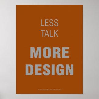 Menos charla, más poster del diseño