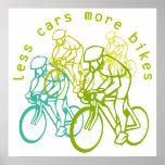 Menos coches más bicis poster