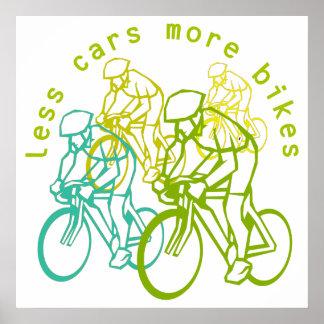 Menos coches más bicis póster