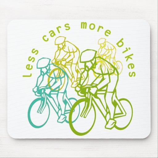 Menos coches más bicis tapetes de ratones