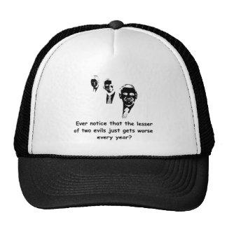 Menos de dos males - luz gorras