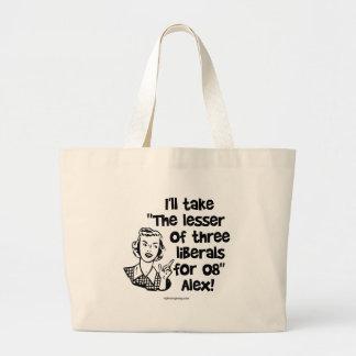 Menos de tres… bolsa tela grande