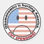 Menos gasto menos gobierno escucha la gente etiqueta redonda