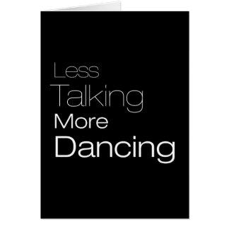 Menos hablar más baile tarjetón