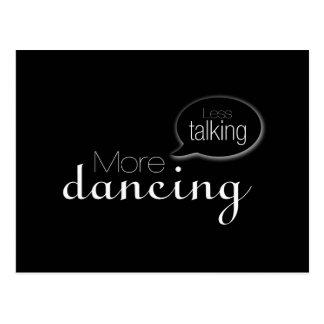 Menos hablar más baile tarjetas postales