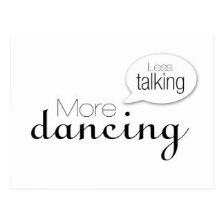 Menos hablar más baile postales
