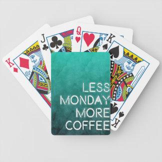 Menos lunes más impresión lavada café barajas de cartas