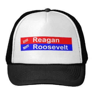 Menos Reagan más Roosevelt horizontal Gorras De Camionero