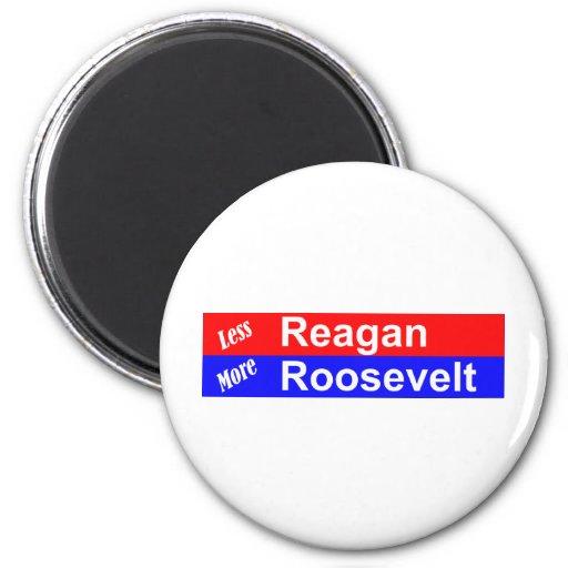 Menos Reagan más Roosevelt horizontal Iman Para Frigorífico