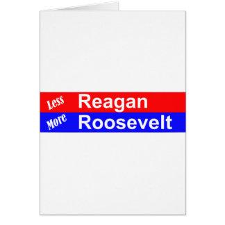 Menos Reagan más Roosevelt horizontal Tarjeton
