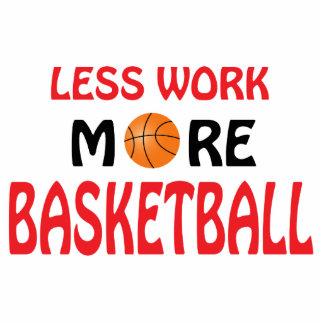Menos trabajo más baloncesto pin fotoescultura