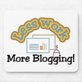 Menos trabajo, más camisetas blogging y regalos alfombrillas de ratón