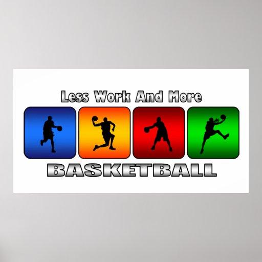 Menos trabajo y más baloncesto poster