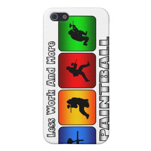 Menos trabajo y más Paintball iPhone 5 Carcasa