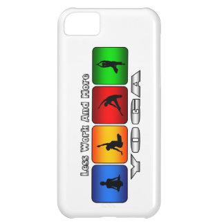 Menos trabajo y más yoga carcasa para iPhone 5C