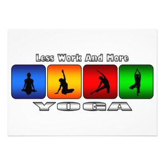 Menos trabajo y más yoga comunicados