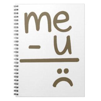 Menos usted iguala el cuaderno triste de la cara