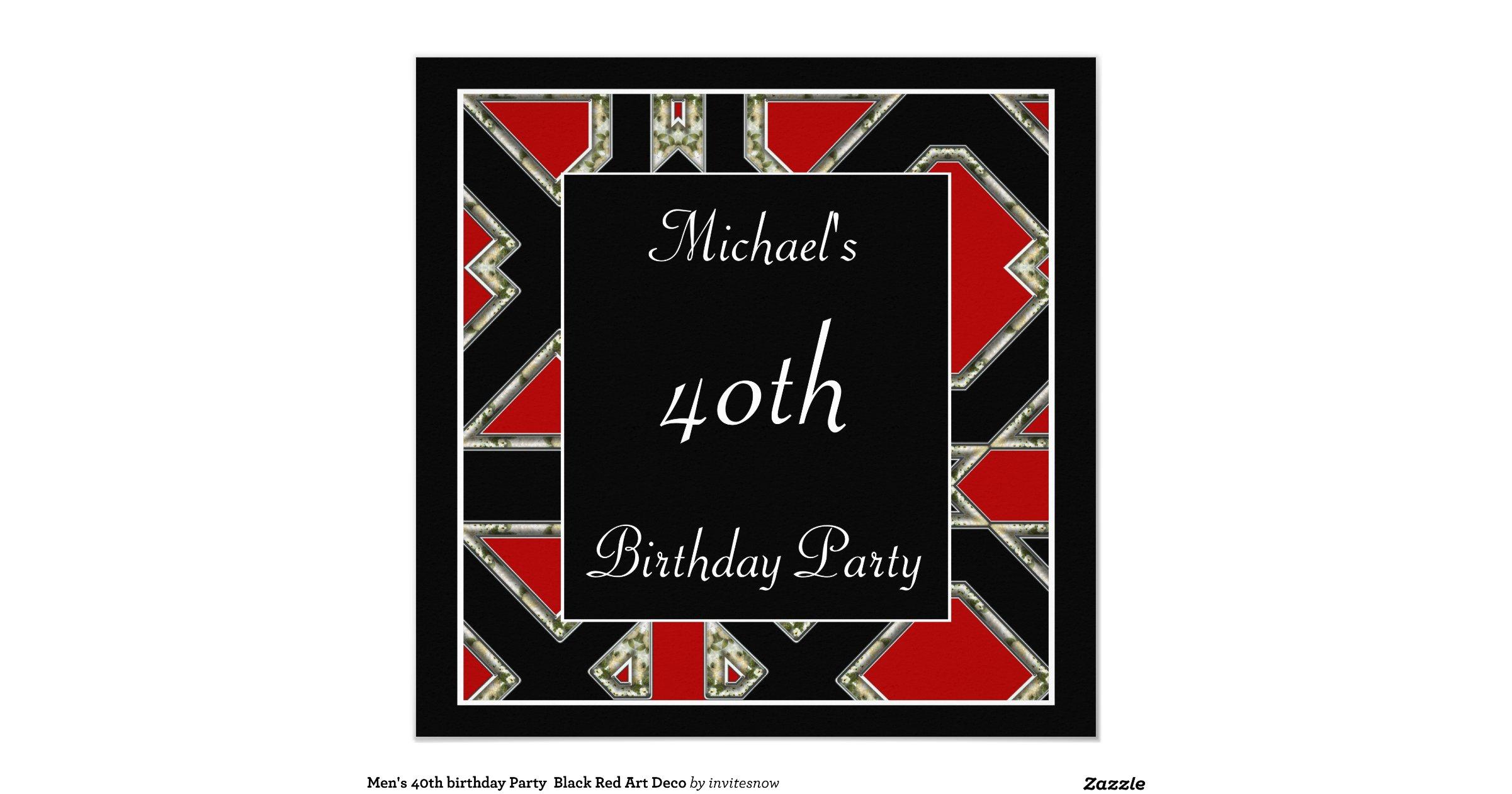 Magnificent Mens Birthday Party Invitations Component - Invitation ...