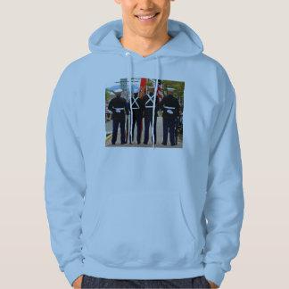 Men's 4 marines hooded sweatshirt