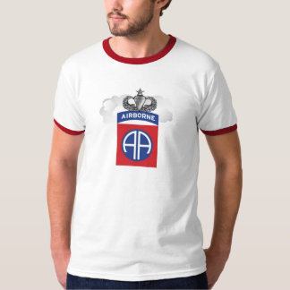 Mens 82nd Airborne Ringer Tee with Jump wings!