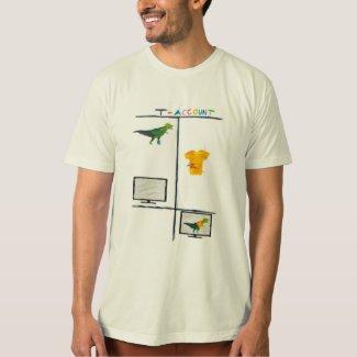 Men's Accounting tshirt - T-Rex T-Account