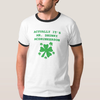 Men's Actually It's Mr Drunky McDrunkerson Ringer T-Shirt
