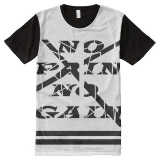 Men's American Apparel All-Over Printed Panel T-Sh All-Over Print Shirt