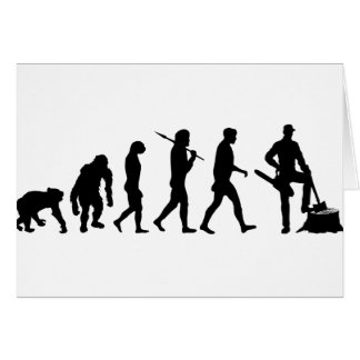 Mens and womens Lumberjack forestry work Card