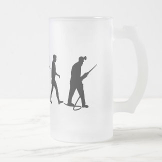 Mens and Womens Work Gifts Frosted Glass Beer Mug