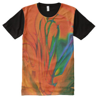 Men's Apparel All-Over Printed Panel T-Shirt All-Over-Print T-Shirt