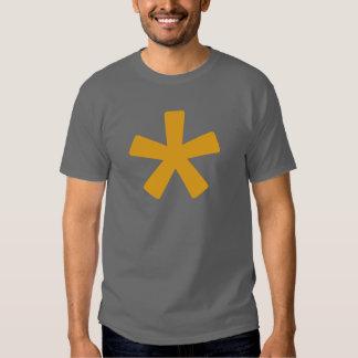 Men's Asterisk T-Shirt (Dark Grey with Mustard)