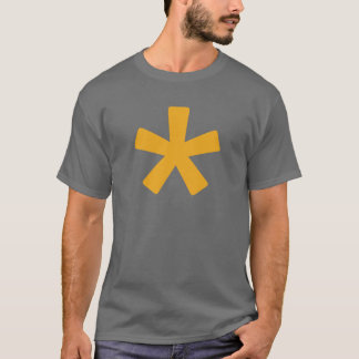 Men's Asterisk T-Shirt (Dark Grey with Mustard)