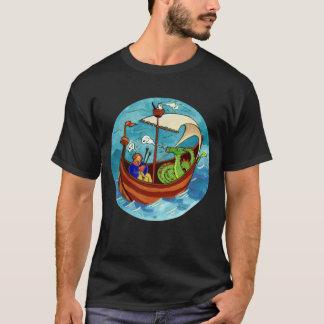 Men's Bagpipe Boat Band dark T-shirt