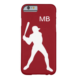 Mens Baseball Name Initials Barely There iPhone 6 Case