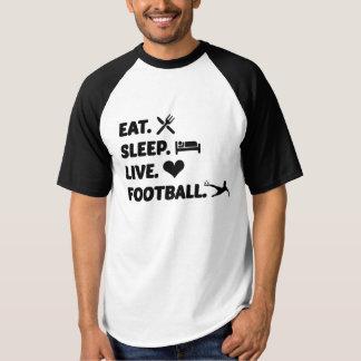 Mens Basic Baseball Top Eat Sleep Live Football
