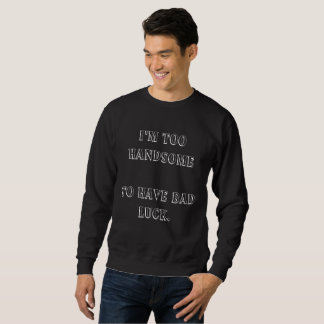 Men's Basic black Sweatshirt with funny text