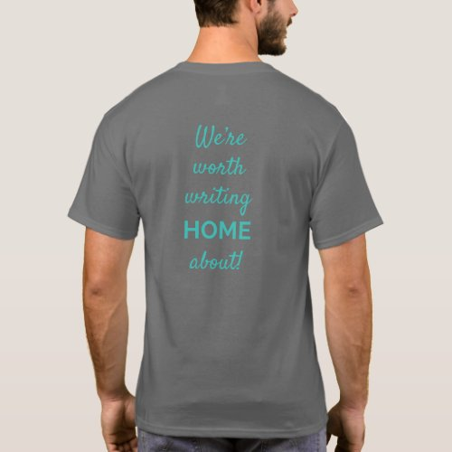 Mens Basic Dark Colored with tagline T_Shirt