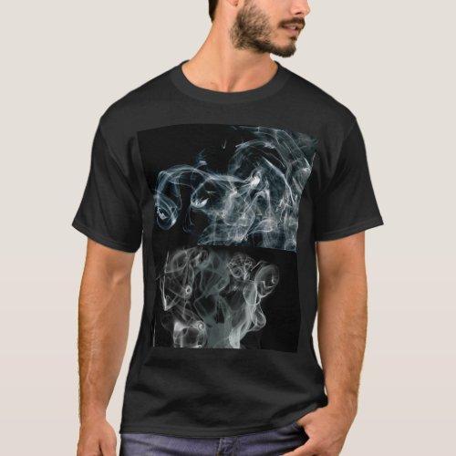 Mens Basic Dark Smoke  T_Shirt