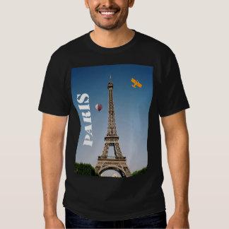 Men's Basic Dark T-Shirt Paris France Eiffel Tower