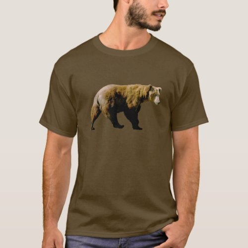 Mens Basic Dark T_Shirt w grizzly bears