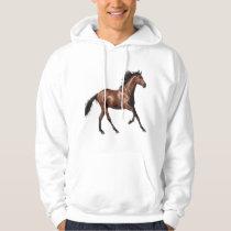 Men's Basic Hooded Horse Sweatshirt
