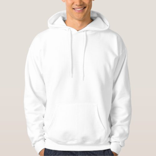 Mens Basic Light Colored Hooded Sweatshirt