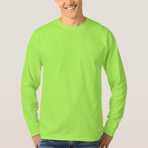 Men 39 S Basic Long Sleeve T Shirt Lime Green Zazzle