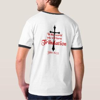 Men's Basic Ringer T-Shirt John 16:33