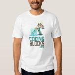 Men's Basic T - Coding Blocks Vertical Logo T-Shirt
