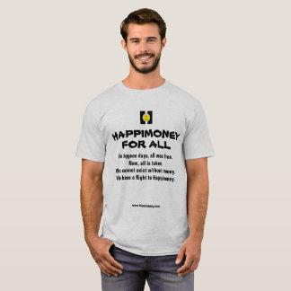 Men's basic t-shirt HAPPIMONEY FOR ALL